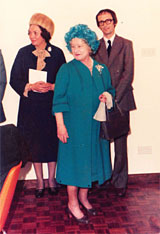 The Queen Mother opening the Mill Centre in 1979